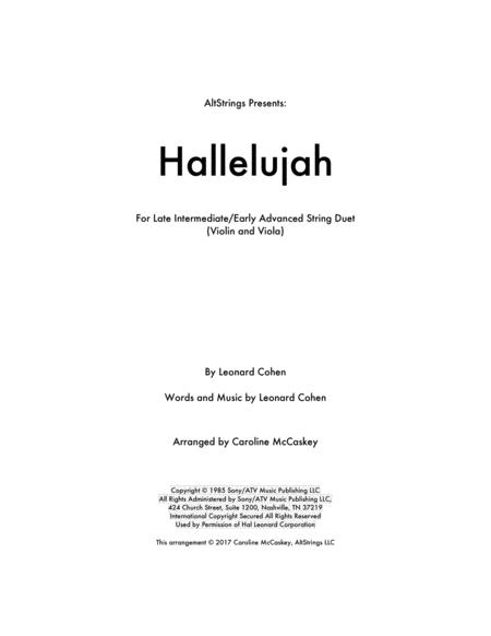 Hallelujah - Violin and Viola Duet