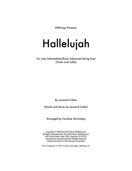 Hallelujah - Violin and Cello Duet