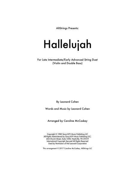 Hallelujah - Violin and Double Bass Duet