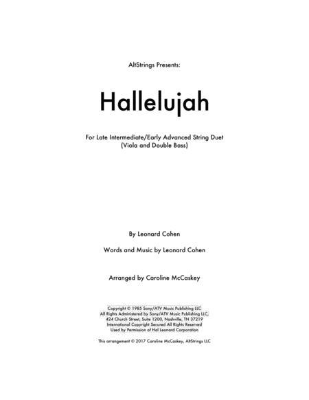 Hallelujah - Viola and Double Bass Duet