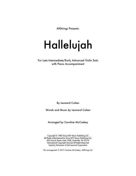 Hallelujah - Violin Solo with Piano Accompaniment