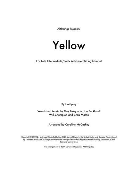 Yellow - String Quartet