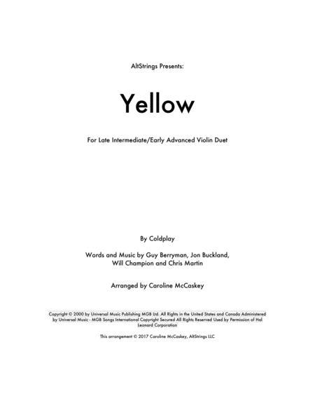 Yellow - Violin Duet