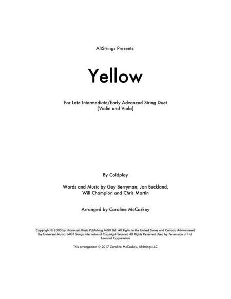 Yellow - Violin and Viola Duet
