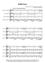 Poker Face polka by Lady Gaga - Saxophone quartet (SATB)