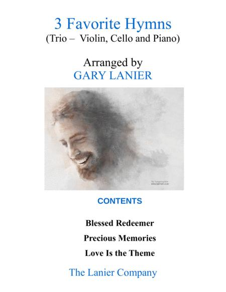 3 FAVORITE HYMNS (Trio - Violin, Cello & Piano with Score/Parts)