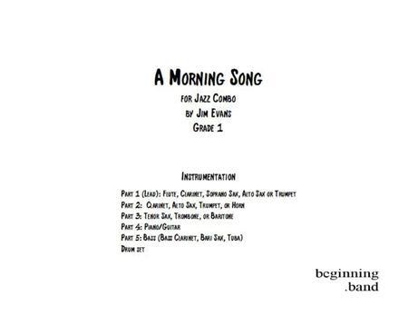 A Morning Song