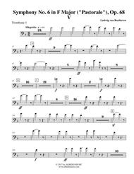 Beethoven Symphony No. 6, Pastorale, Movement V - Trombone in Bass Clef 1 (Transposed Part), Op. 68