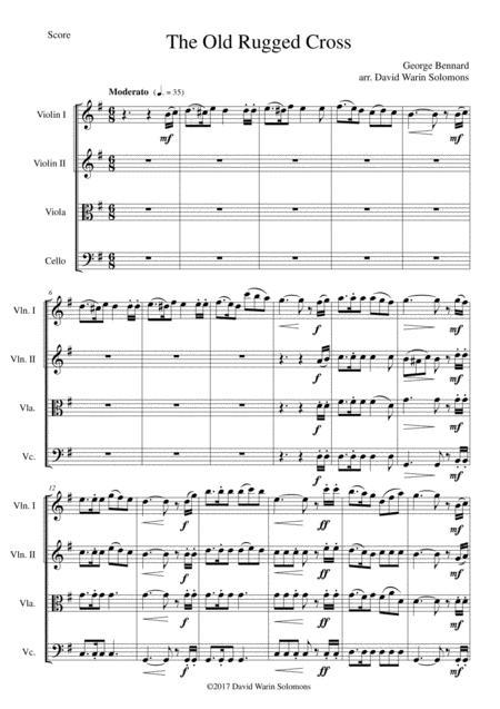The Old Rugged Cross (original version) String Quartet