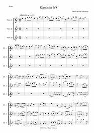 Canon in 6/8 for flute trio