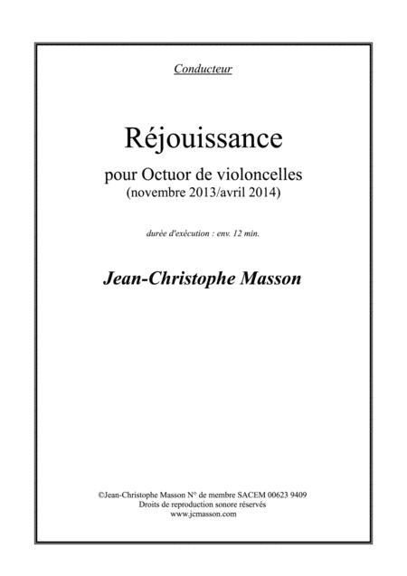 Réjouissance --- for 8 celli --- Full score and parts