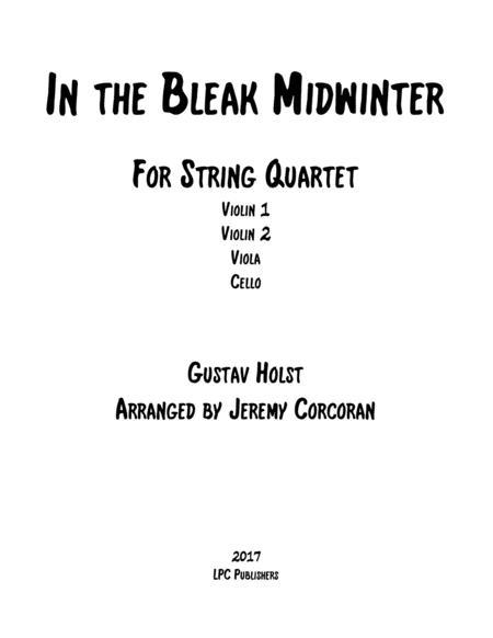 In the Bleak Midwinter for String Quartet