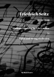 Seitz Pupil's Violin Concerto No. 3 in G minor for Violin and String Orchestra