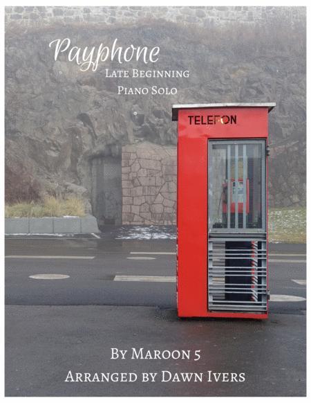 Payphone - easy piano