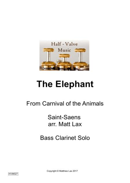 The Elephant from The Carnival of the Animals (Bass clarinet and Piano)