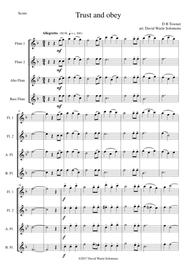 Trust and Obey for Flute quartet (2 C flutes, alto flute, bass flute)