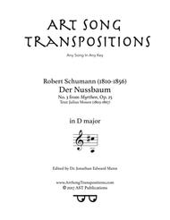 Der Nussbaum, Op. 25 no. 3 (D major)