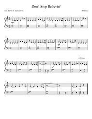 Don't Stop Believin' (Beginner Piano)