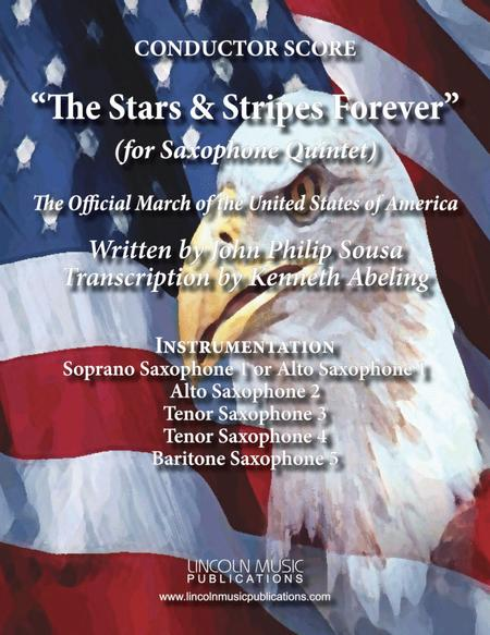 March - The Stars and Stripes Forever (for Saxophone Quintet SATTB or AATTB)