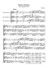 Rustic Fanfare - Alto Sax Trio
