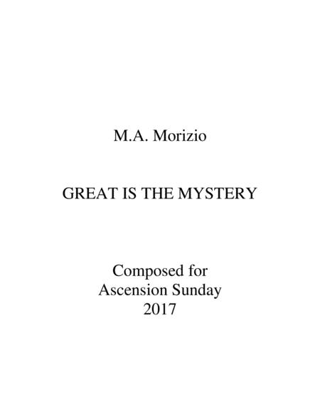 GREAT IS THE MYSTERY (SATB w/Rehearsal Piano)