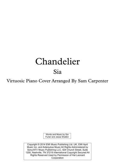 Chandelier Virtuosic Piano Solo