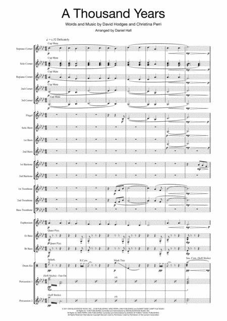 A Thousand Years (Brass Band Arrangement)