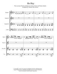 Ho Hey for String Quartet (3 Violin, Cello)