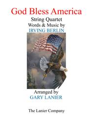 GOD BLESS AMERICA (String Quartet – Violin 1, Violin 2, Viola & Cello with Score and Parts)