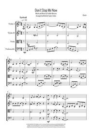 Don't Stop Me Now (String Quartet)