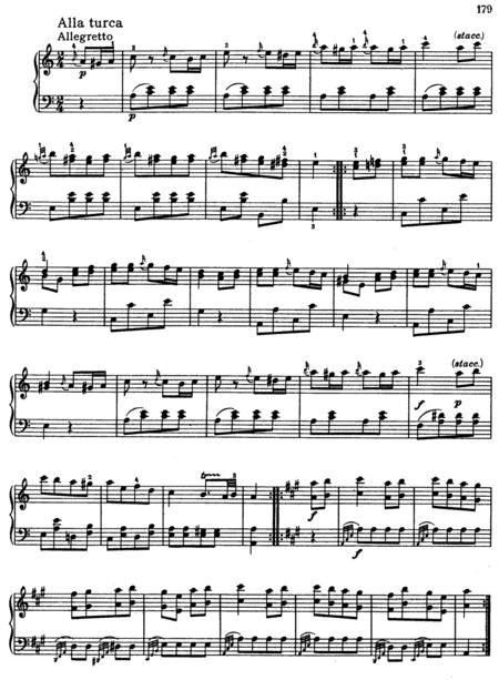 Mozart-Turkish March(Piano Sonata, K.331, mvt.3)