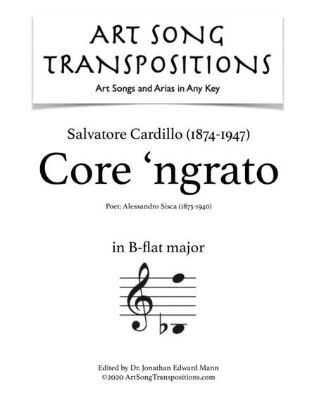 Core 'ngrato (B-flat major)