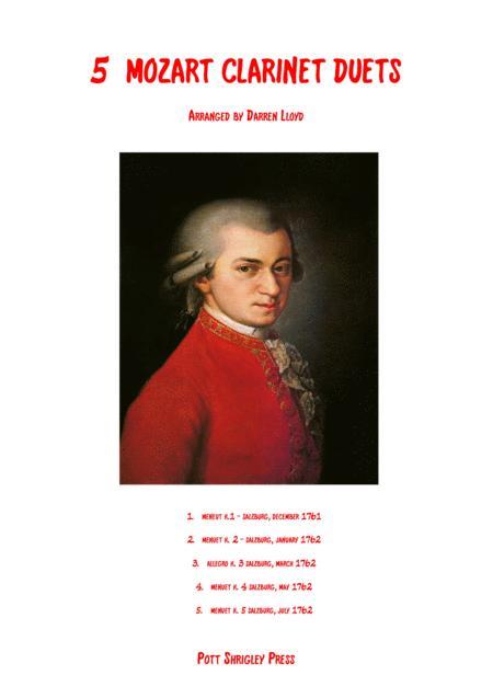 5 Mozart Clarinet duets