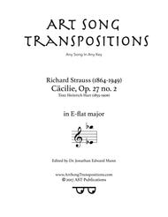 Cäcilie, Op. 27 no. 2 (E-flat major)
