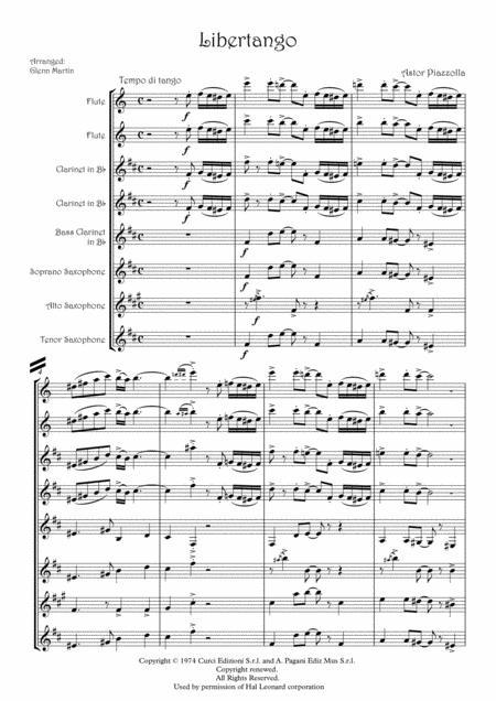 Download Libertango Astor Piazzolla Nuevo Tango Single Reed