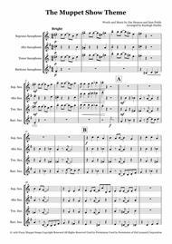 The Muppet Show Theme - Saxophone quartet (SATB)