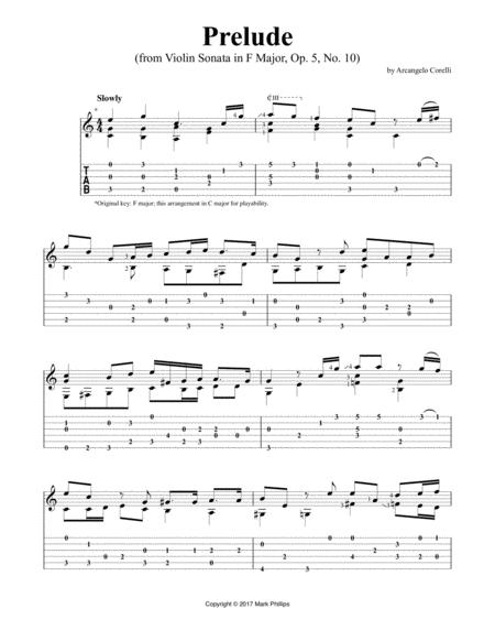 Prelude (from Violin Sonata in F Major, Op. 5, No. 10)