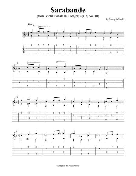 Sarabande (from Violin Sonata in F Major, Op. 5, No. 10)