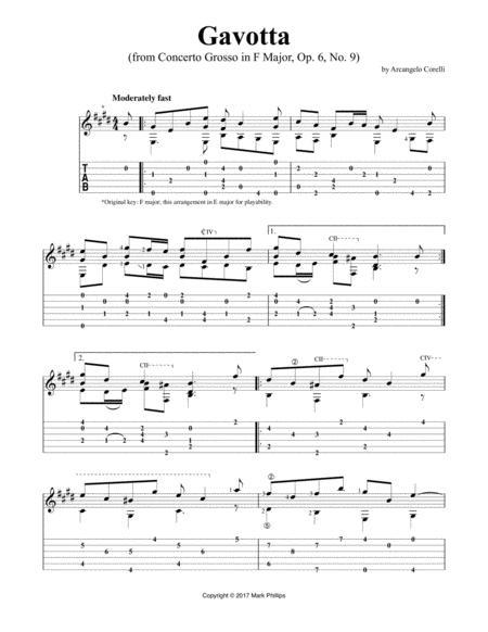 Gavotta (from Concerto Grosso in F Major, Op. 6, No. 9)