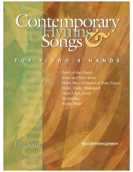 Contemporary Hymns & Songs For Piano/4 Hands
