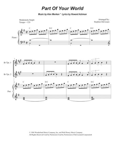 Part Of Your World (for Brass Quartet)