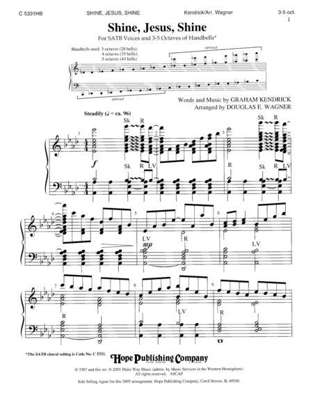 Download Shine, Jesus, Shine Sheet Music By Graham Kendrick - Sheet ...