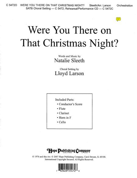 Were You There on That Christmas Night?