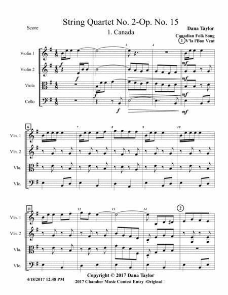 String Quartet 2 Opus 15 No 1-Canada