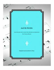 Jack Be Nimble - vocal solo, piano solo, or unison choir with piano accompaniment