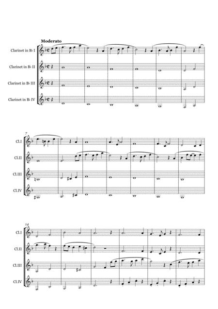 Clarinet Quartet on Melodies by Joe Hisaishi(Full Score)