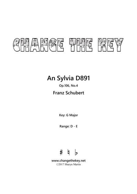 An Sylvia - G Major