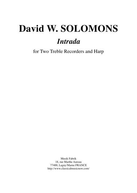 David Warin Solomons Intrada for two treble recorders and harp