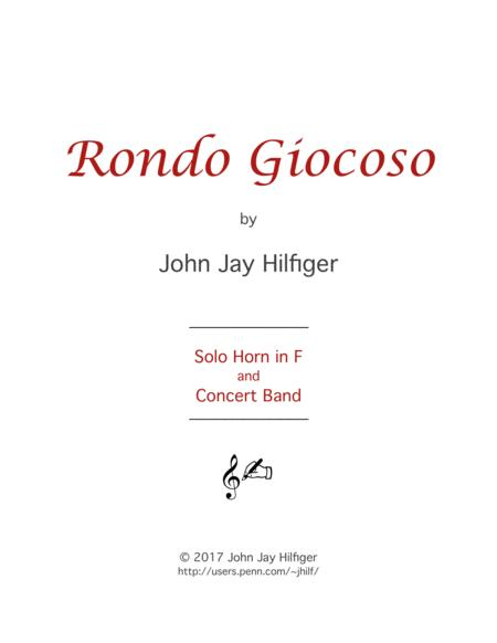Rondo Giocoso for Horn and Band
