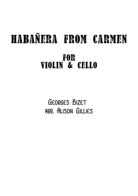 Habañera from Carmen - String Duo (vln/vc)